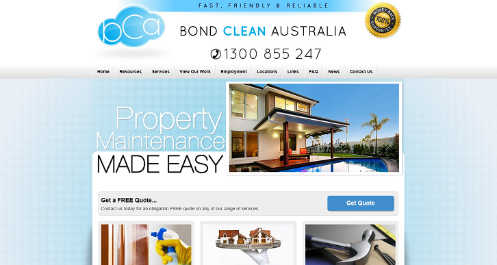 New Website Launched for Bond Clean Australia!